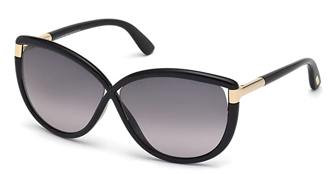 1c899fcb6c02 Image Unavailable. Image not available for. Colour  Tom Ford Womens Abbey  Gradient Oversized Cat Eye Sunglasses Black
