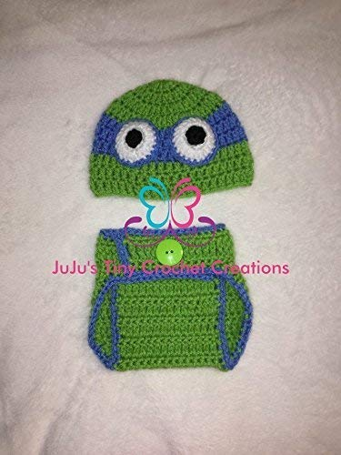 c97a71236 Amazon.com: Crochet Handmade Baby Newborn Blue Turtle Outfit ...