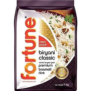 Fortune Biryani Classic, Premium basmati Raw Rice, Aged for 2 Years, 1 kg