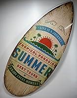 Wandbild Surfboard Surfbrett Bild 57 x 24 cm Maritim Figur Deko GRF 39.0946 B