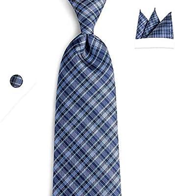 FDHFC Hombres Azul Negro Corbatas Dibangu Marca Moda Negocio De ...