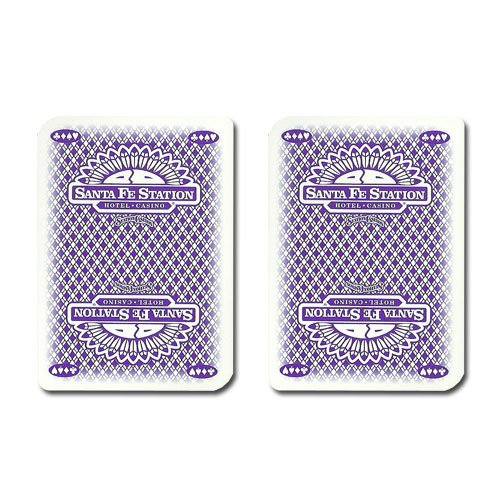 Single Deck Used in Casino Playing Cards - Santa - Santa Fe Malls