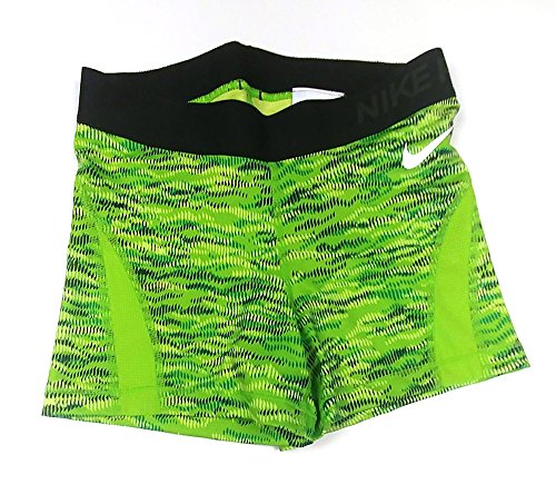 NIKE Womens Dri-Fit Hypercool Compression Shorts 725451 313 XS Lime Green