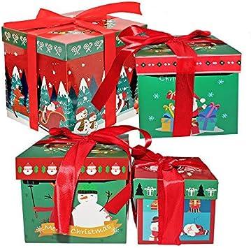 THE TWIDDLERS 8pcs Cajas para Navidad - 4 Diseños Atractivos 2 Tamaño - Perfectos para Regalos De Arbol Navidad - Ideal en Fiestas Decoracion Navideñas: Amazon.es: Juguetes y juegos