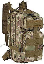 Military Tactical Backpack, 30L Army Backpack Large Rucksack Multi-Functional Travel Daypack for Outdoor Hikin