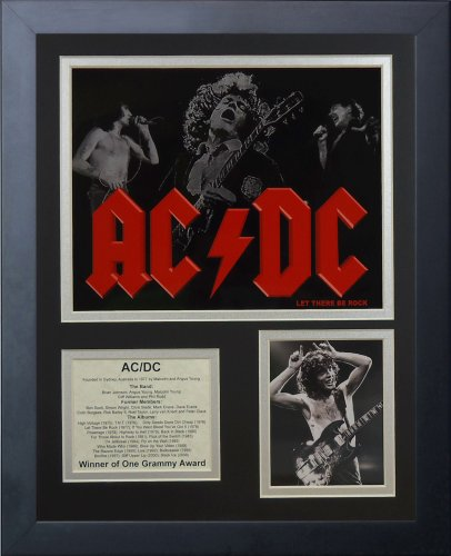 Legends Never Die AC/DC Framed Photo Collage, 11 by 14-Inch