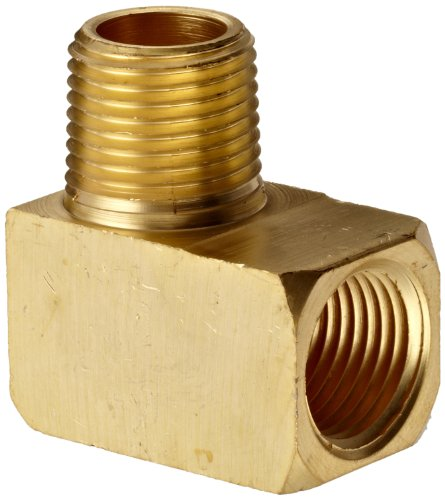Nptf Male Elbow - Dixon SE4F4M Extruded Brass Pipe and Welding Fitting, 90 Degree Street Elbow, 1/2