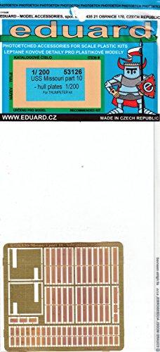 Railing for use with the Trumpeter kit MODEL KIT ACCESSORY USS MIssouri Detail Set Part 6 EDU53122 1:200 Eduard PE