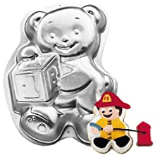Wilton Cake Pan: Teddy Bear with Block (2105-8257, 1995)