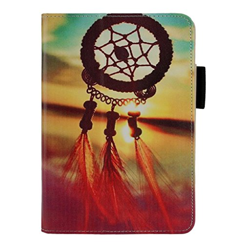 Price comparison product image Kindle Fire HD 7, LUNIWEI Painted Leather Stand Cover Case
