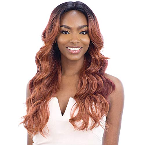 - Freetress Equal Synthetic Hair 5 Inch Lace Part Wig for Black Women - VIVIA (FF AMBER)