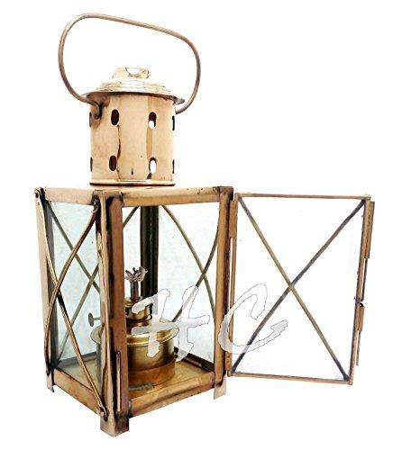- Vintage Brass Nautical Maritime Hanging Ship Lantern~Ship Boat Cargo Oil Lamp