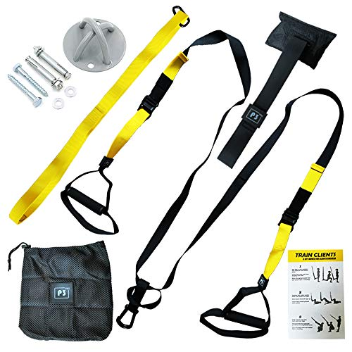 CBK Bodyweight Resistance Trainer Kit | Resistance Straps Trainer,X Mount Wall Anchor,Carrying Bag | Body Workout & Home Gym ()
