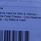 4c248cd019582 Amazon.com  Mato   Hash Beanie Hats for Men   Women - Black Watch ...
