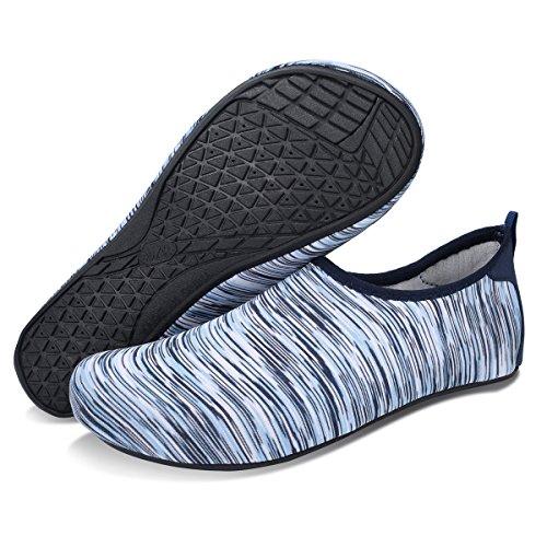 À Surf Chaussettes Bassin Yoga Sport Chaussures Hommes Blanc Plage Rapide De Bleu Femmes Séchage Joinfree Aqua Le BYHqPIw