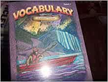 BJU Vocabulary for Christian Schools Level A Stu Wkbk (1998,PB) VGC A3