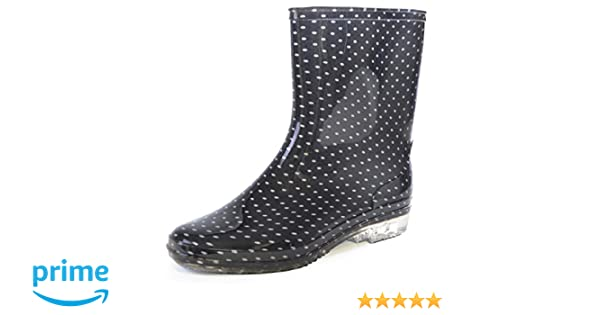 Corta, Para Dama Con Topos / Puntos Imagen Botas De Agua: Amazon.es: Zapatos y complementos