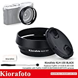 Kiorafoto Lens Hood Filter Adapter Lens Cap Kit for Fuji Fujifilm X100F X100T X100S X100 X70 Replaces Fujifilm LH-X100 AR-X100 - Black