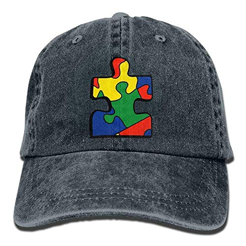 Michael Rong Denim Baseball Cap Autism and The Puzzle Piece 1 Women Snapback Casquettes Adjustable Dad -