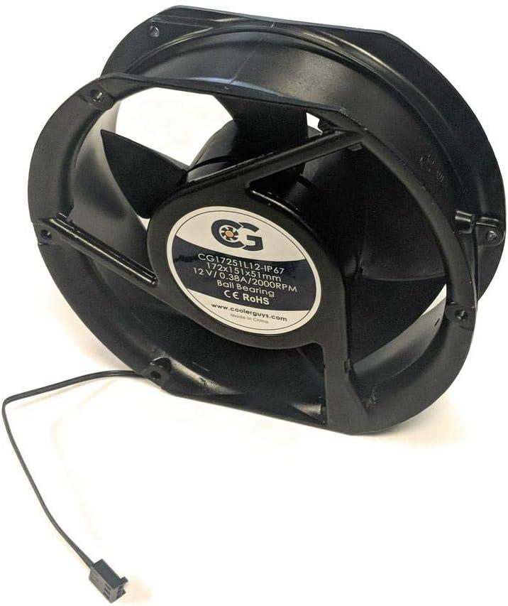 """Coolerguys 7"""" (172mm x 152mm x 51mm) 12v Waterproof Fan"""