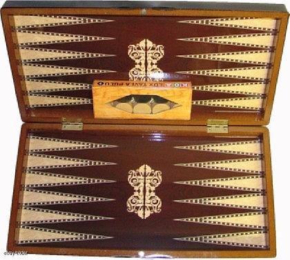 Backgammon Tavla aus Holz