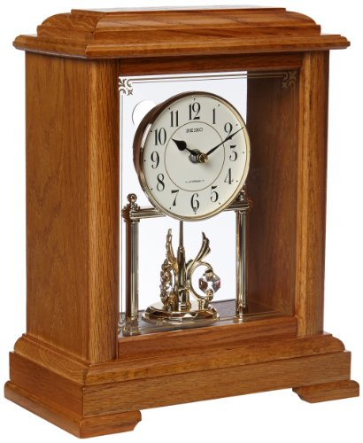 Seiko QXW230BLH Japanese Quartz Shelf Clock ()