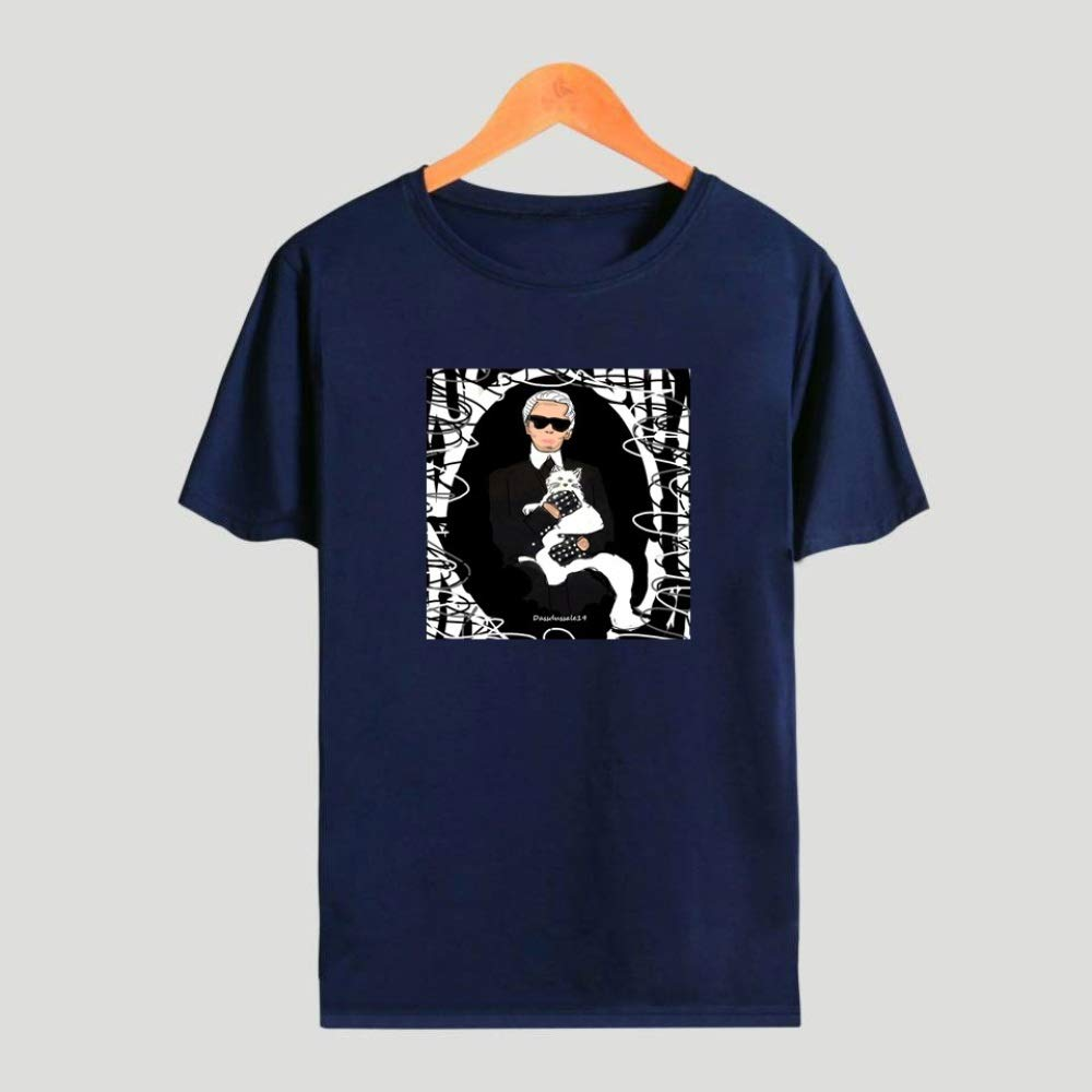 A1 3XL INSTO T-Shirt Mode 3D Drucken Kurz /Ärmel T-St/ück Karl Lagerfeld Gedruckt Unterhemd Unisex Einfach Wild