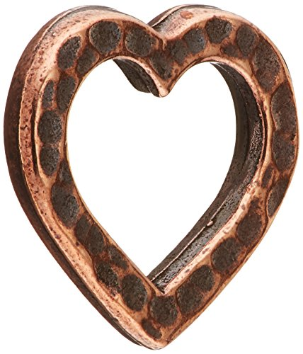 TierraCast Hammered Heart Charm, 14mm, Antiqued Copper Plated Pewter, 4-Pack 14 Mm Hammered Heart