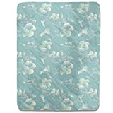 Pastel Hibiscus Fitted Sheet: King Luxury Microfiber, Soft, Breathable