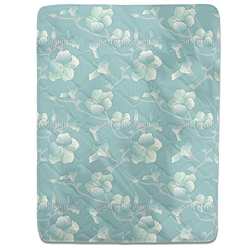 Pastel Hibiscus Fitted Sheet: King Luxury Microfiber, Soft, Breathable by uneekee