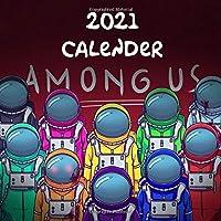 "Among Us: 2021 Wall Calendar - Mini size 7"" x 7"" - 12 Months"