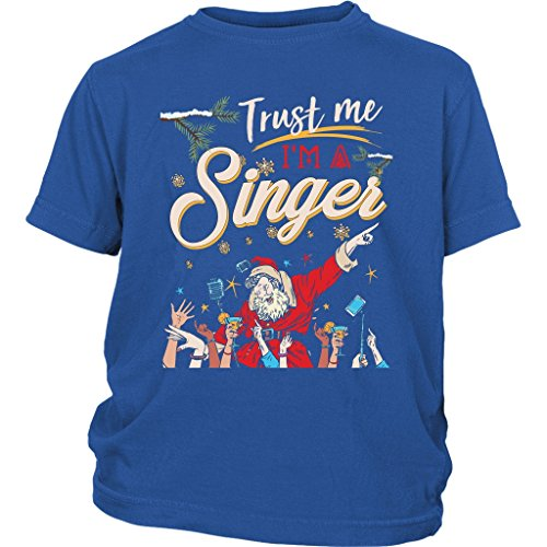 I'm A Singer Baby Bodysuit, Christmas Song T Shirt (XS, Youth Tee - Blue) ()