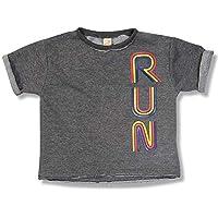 Camiseta Run Cinza Escuro Green - Infantil Menina