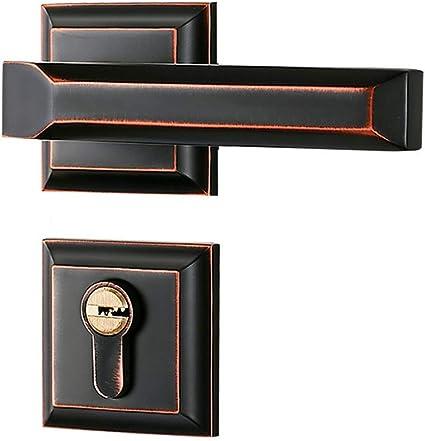 Yanfei Interior Bedroom Door Lock Zinc Alloy Solid Wood Door Handle Handle Color Red Bronze Size A Amazon Co Uk Kitchen Home