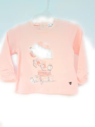 0e1163789 Mayoral Baby Girl Long Sleeved Top with Girl Standing on Suitcases (9  months)