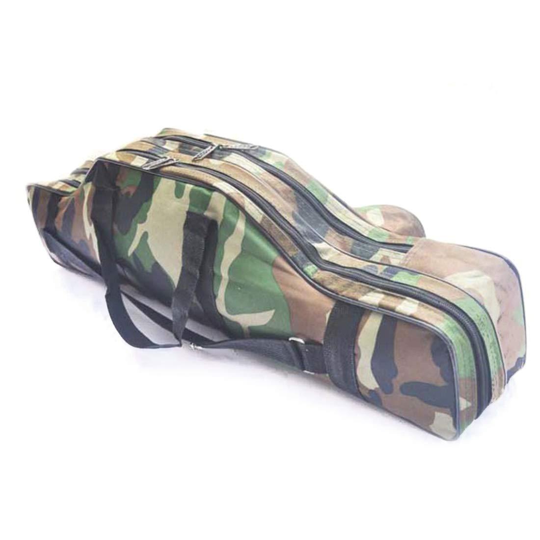 Kunliyin YY1 Outdoor Canvas Material Camouflage Farbe praktische multifunktionale Floßfischtasche (Größe : One Größe)