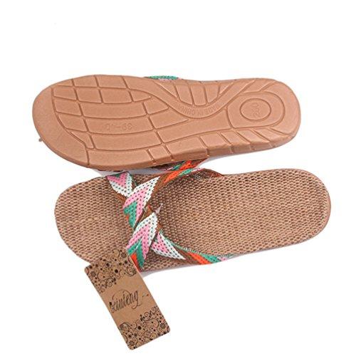 Pantoufles D'éTé Pantoufles Silent Sol IntéRieur Travers pour Chaussures en pour De Orange Sandales Sueur De La Ceinture Les Femmes De 7xqUrA7