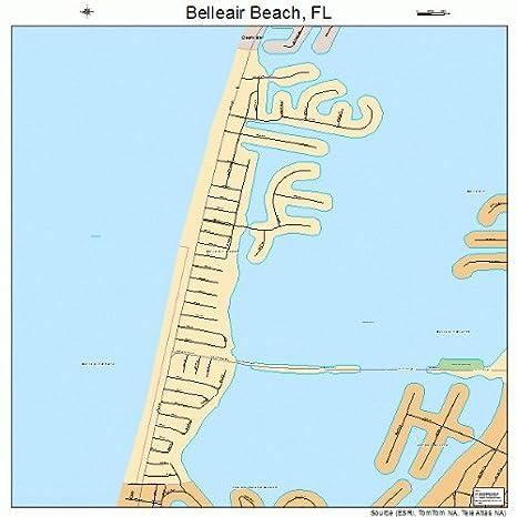 Amazon Com Large Street Road Map Of Belleair Beach Florida Fl