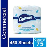 Bulk Toilet Paper for Businesses by Charmin Professional, Individually Wrapped for Commercial Use, 2-ply Standard Roll with 450 Sheets / Roll (Case of 75 Rolls)