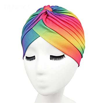 71b3defa768 Image Unavailable. Image not available for. Color  Women s Rasta Turban  Indian Style Head Wrap Cap Hat Hair Cover Headband Various Print ...
