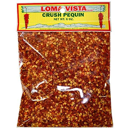 Loma Vista Pequin Crush (Dried Chili Powder and Seeds), 6 Ounces