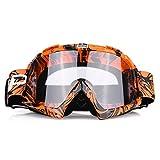 Motorcycle Goggles, Dustproof Anti-glare Racing Goggles Protective Eyewear Glasses for Dirt Bike Motorcycle Motocross (2#)