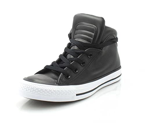 afe150df2c7f8a Converse Womens Chuck Taylor All Star Brookline Mid Sneaker  Black Black White 5.5 B