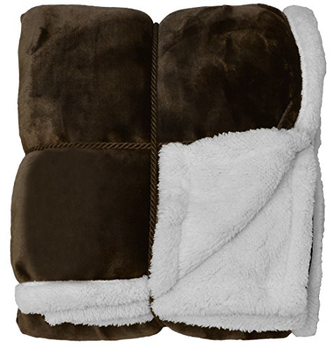 Napa Sherpa Throw Blanket Brown 50