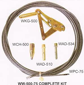 """Klein Tools WW-500-100 Waterline Kit W/ 3/8"""" X 100' Pulling Cable"""