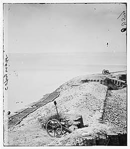 Photo: Parapet,artillery,Fort Sumter,Morris Island,Charleston,South Carolina,SC,1865