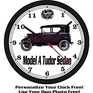 1929 FORD MODEL A TUDOR SEDAN WALL CLOCK-FREE USA SHIP!