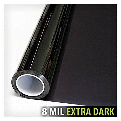 BDF S8MB05 Window Film Security and Privacy 8 Mil Black 05 (Very Dark) - 36in X 24ft by Buydecorativefilm (Image #3)
