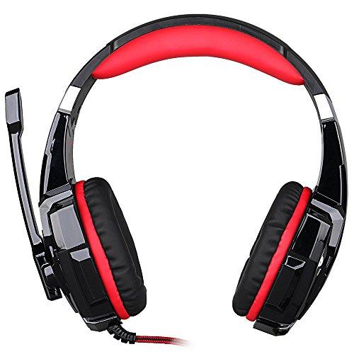 KOTION EACH G9000 USB Estéreo Auriculares de Juego de Rey con Micrófono Control de Volumen Luz LED Para PC Juego, Headset Gaming 3.5 mm, Cancelación de ...