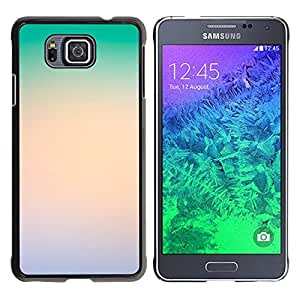MOBMART Carcasa Funda Case Cover Armor Shell PARA Samsung ALPHA G850 - The Ocean Green Clouds